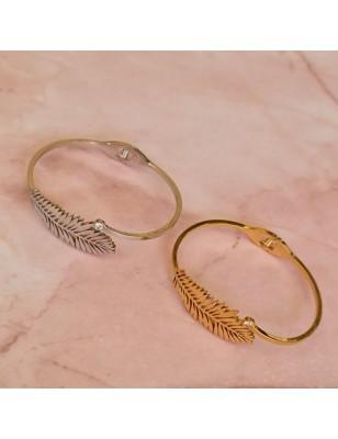 Bracelet rigide plume