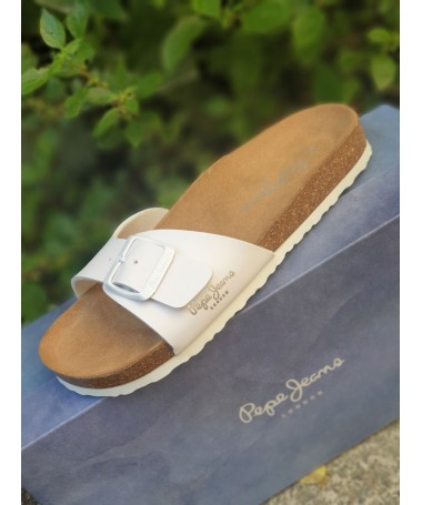 SANDALES PEPE JEANS BIO BASIC BLANCHES