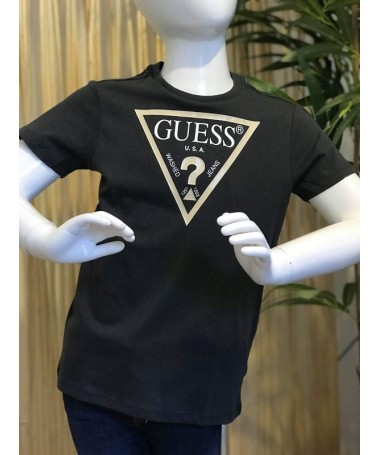 TEE SHIRT GUESS LAURIS GRIS