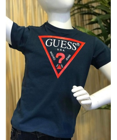 TEE SHIRT GUESS LAURIS MARINE