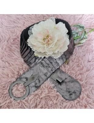 Ceinture Laure grise argentée