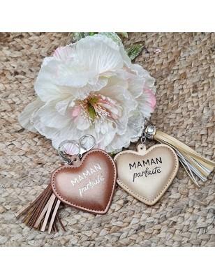 """Porte-clés cœur """"Maman..."""