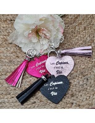 """Porte-clés cœur """"Les..."""