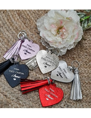 """Porte-clés cœur """"Mon petit..."""
