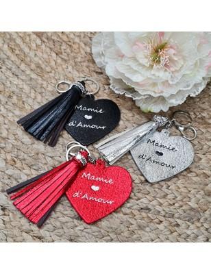 """Porte-clés cœur """"Mamie..."""