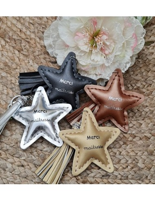 """Porte-clés étoile """"Merci..."""