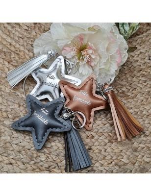 """Porte-clés étoile """"Fille..."""