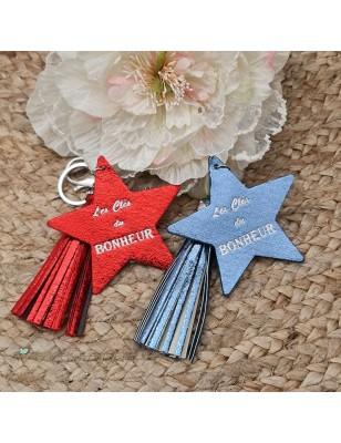 """Porte-clés étoile """"Les clés..."""