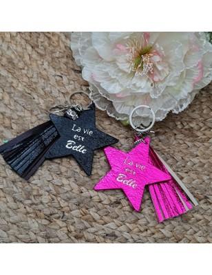 """Porte-clés étoile """"La vie..."""