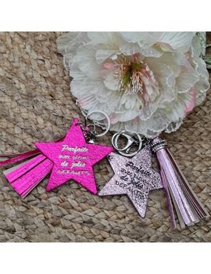 """Porte-clés étoile """"Parfaite..."""