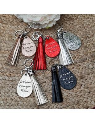 """Porte-clés goutte """"Je..."""