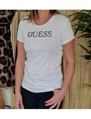 Tee-shirt Guess Téa blanc