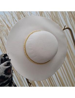 Chapeau chainette beige
