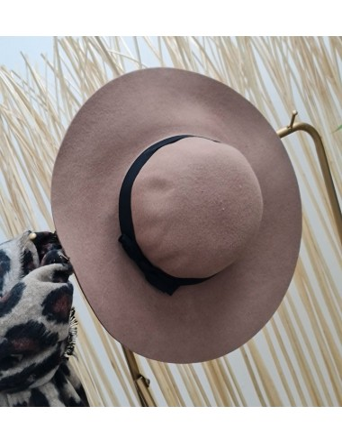 Chapeau nœud taupe