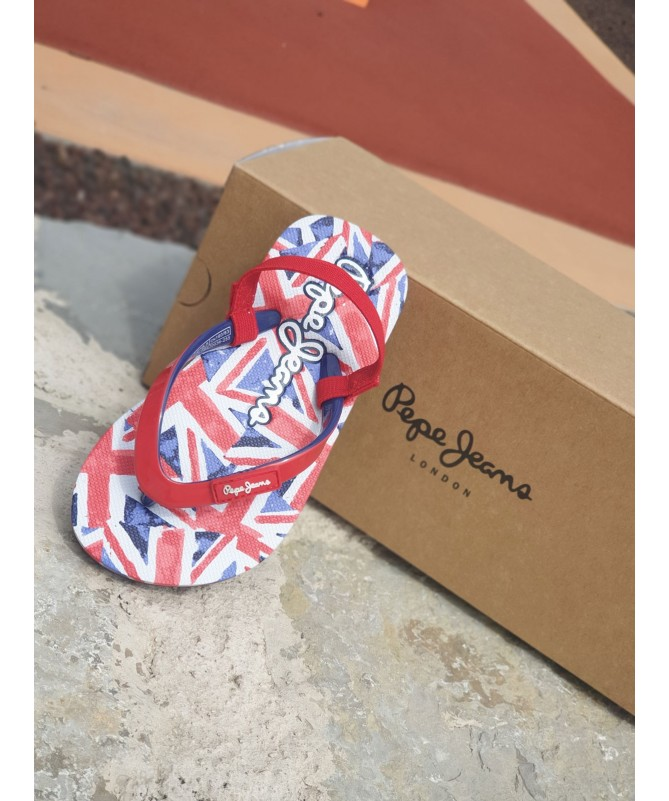 TONGS PEPE JEANS ROUGE