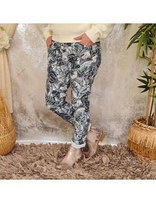 Jeans baggy Urana blanc...