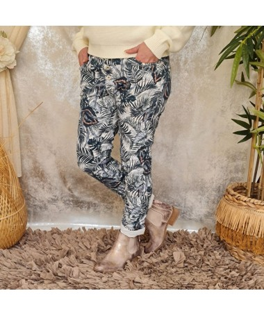 Jeans baggy Uria blanc...
