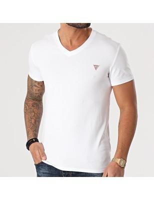 Tee-shirt Guess Fidel blanc