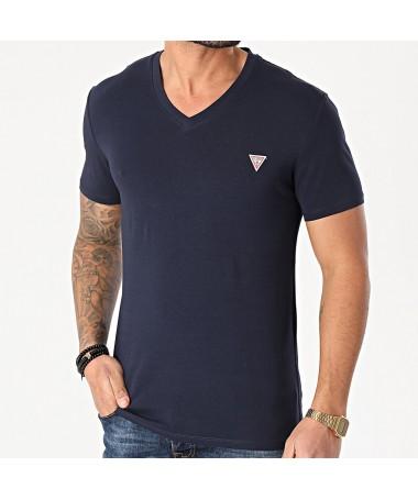 Tee-shirt Guess Fidel marine
