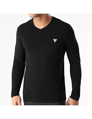 Tee-shirt Guess Fabio noir