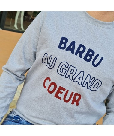 "Sweat ""Barbu au grand cœur"""