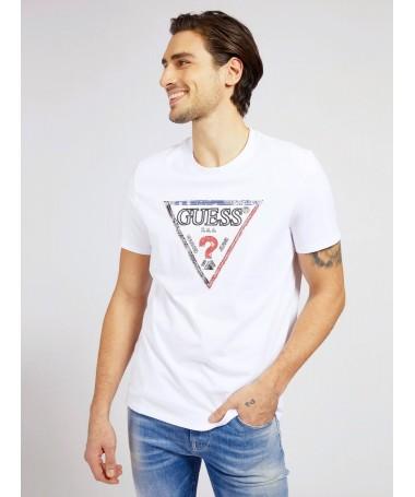 Tee-shirt Guess Gauvin blanc