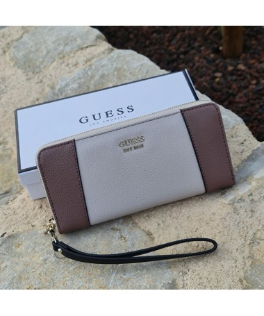 Portefeuille Guess Naya taupe