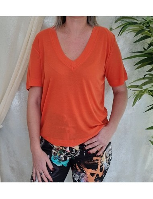 Tee-shirt Guess Aimy orange