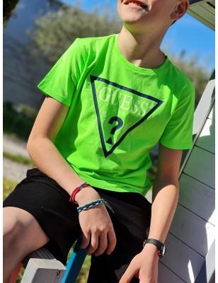 Tee-shirt Guess Lexy vert fluo