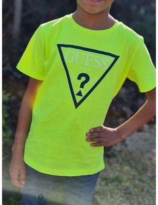 Tee-shirt Guess Lexy jaune...