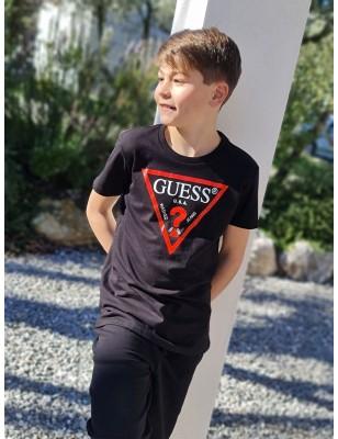 Tee-shirt Guess Jekel noir