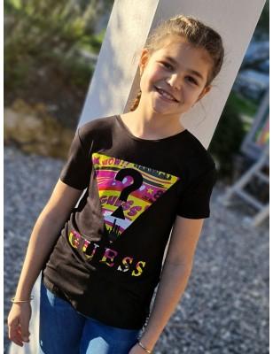 Tee-shirt Guess Tracie noir