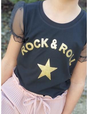 """Haut """"Rock & Roll"""" noir"""