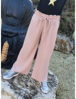 Pantalon large Cyrielle rose