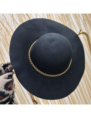 Chapeau chainette noir
