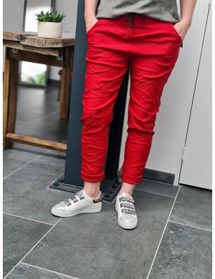 Pantalon baggy Casey rouge