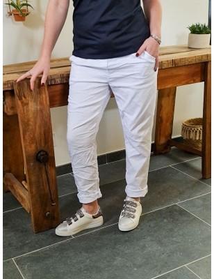 Pantalon baggy Casey blanc