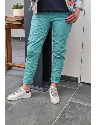 Pantalon baggy Casey turquoise