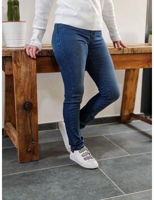 Jeans slim taille haute Morgan Polly bleu