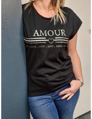 Tee-shirt Morgan Dcouti noir