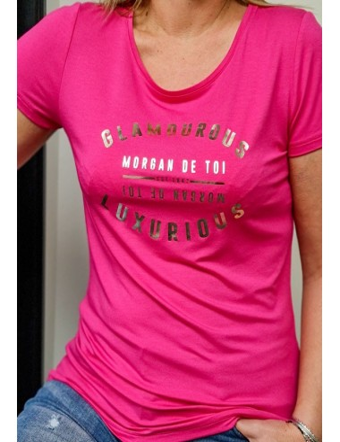 Tee-shirt Morgan Dglam fuchsia