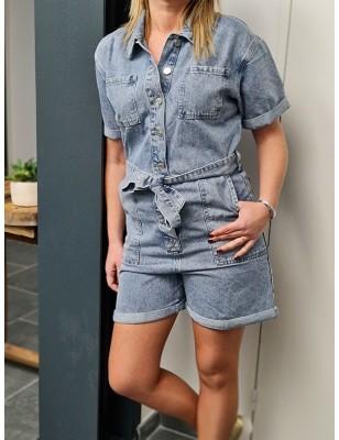 Combi short en jeans Bruna