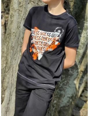 Tee-shirt Guess Nino noir