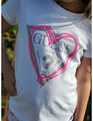 Tee-shirt Guess Soizic blanc