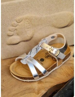 Sandales Plakton Cross argent
