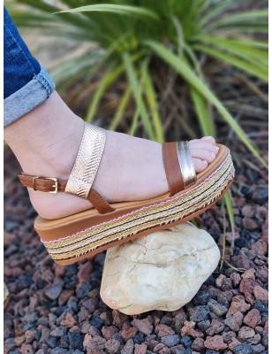 Sandales compensées Eléonor...