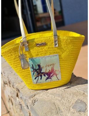 Panier Les Tropéziennes Formentera jaune