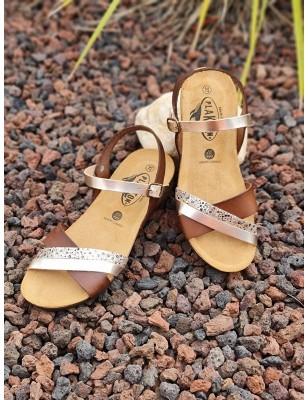 Sandales compensées Plakton...