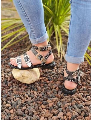 Sandales Naéma python