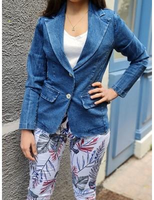 Veste Alia en jean bleu